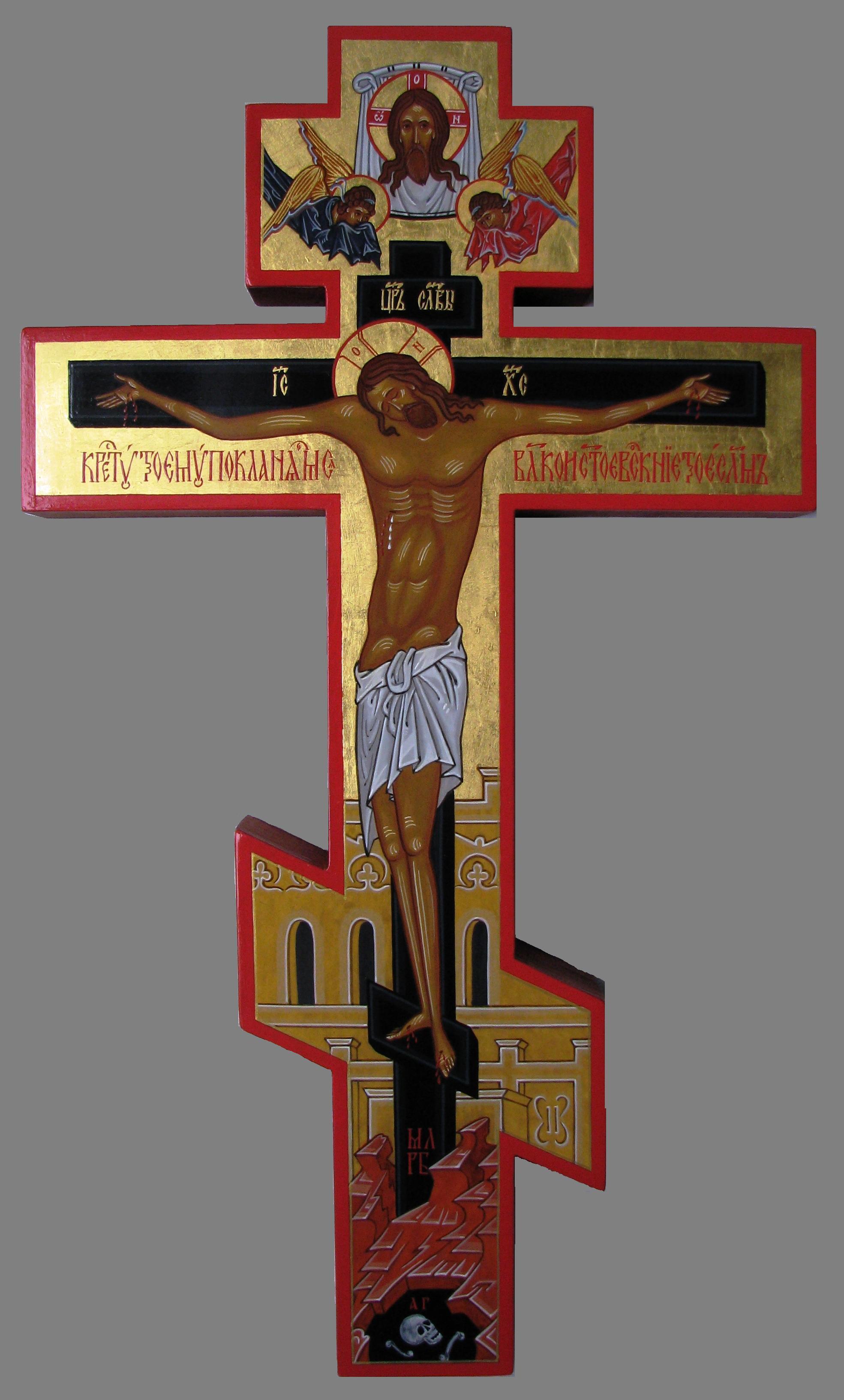 Иконки на кресте своими руками